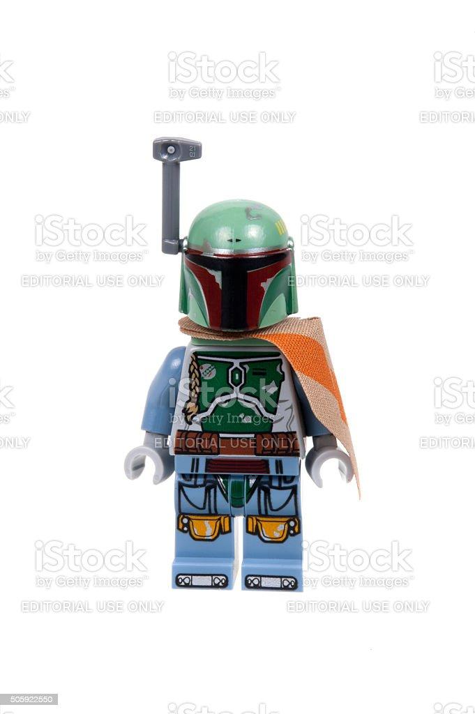 Boba Fett Lego Minifigure stock photo