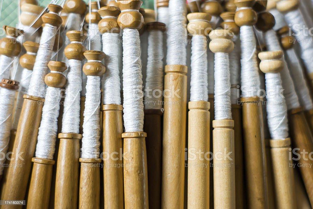 Bobbin lace, traditional handicrafts royalty-free stock photo