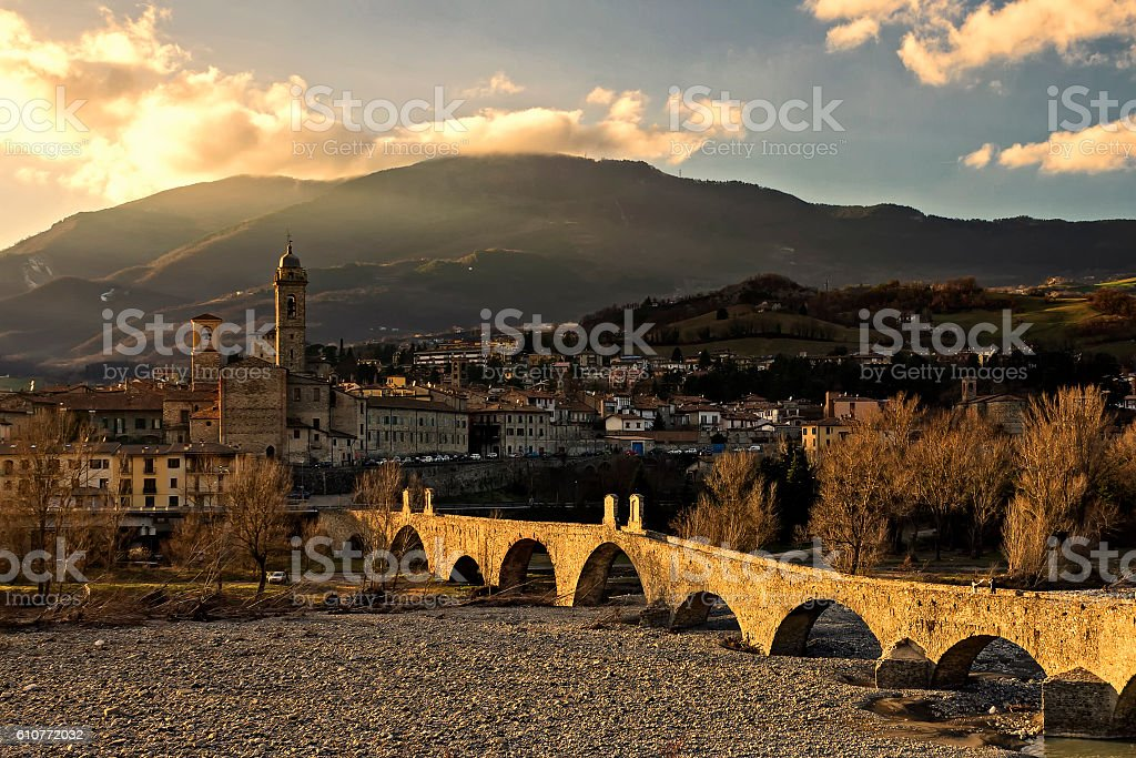 Bobbio Ponte Gobbo stock photo