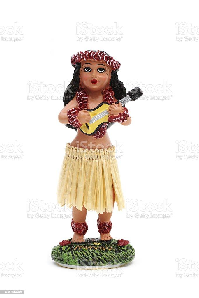 Bobble doll hula girl stock photo