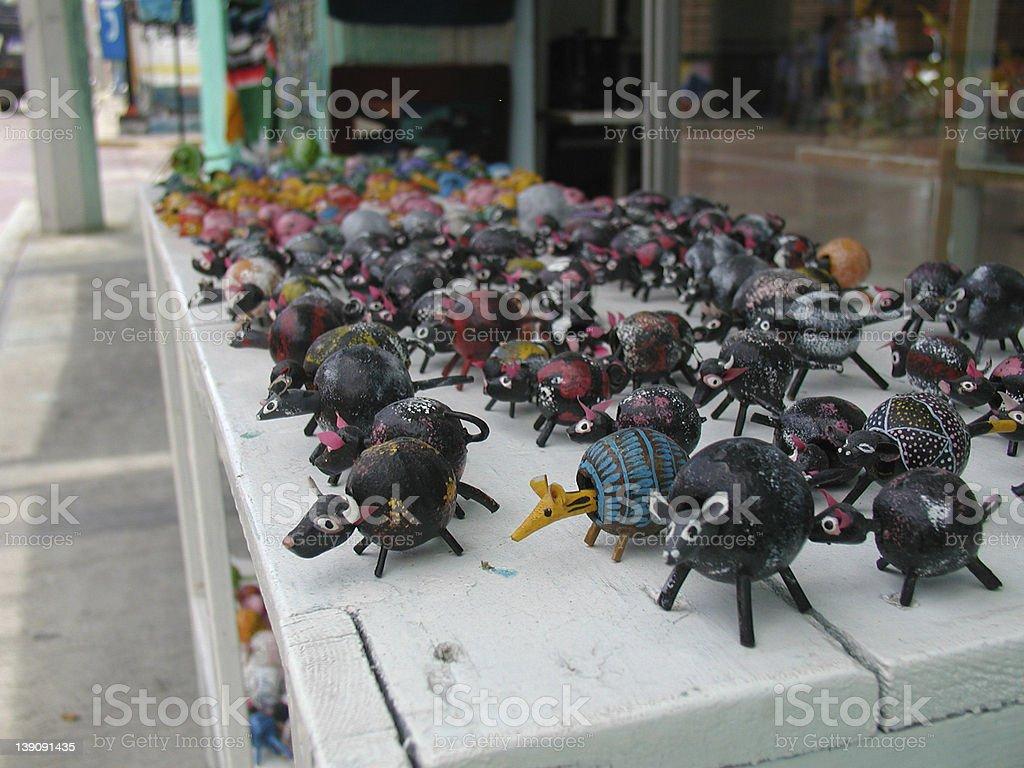 bobble head toys stock photo