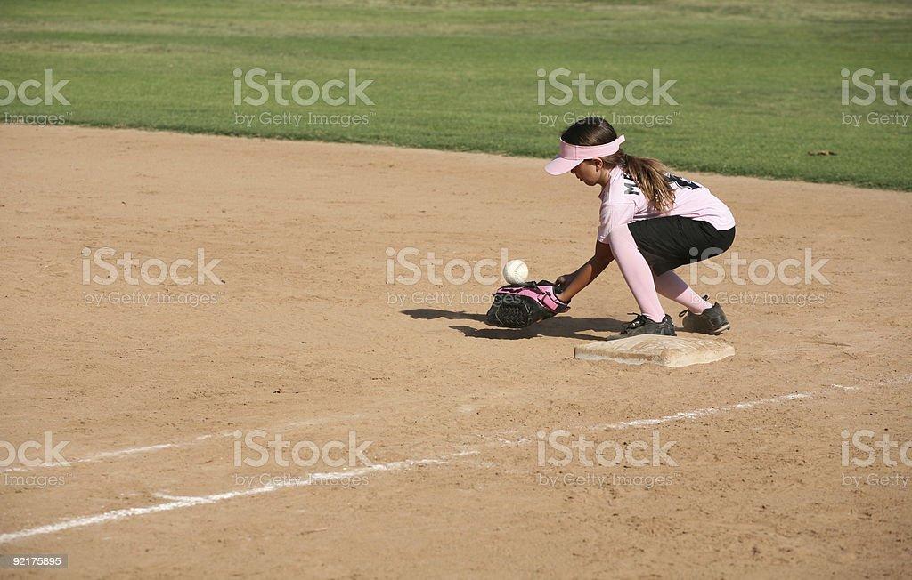 Bobbling ball player stock photo