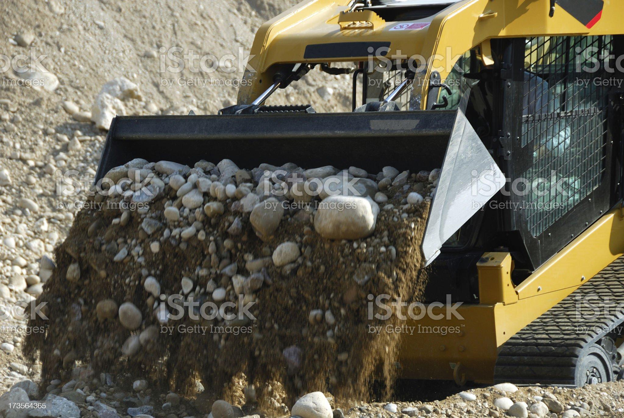 Bobcat loader at work royalty-free stock photo