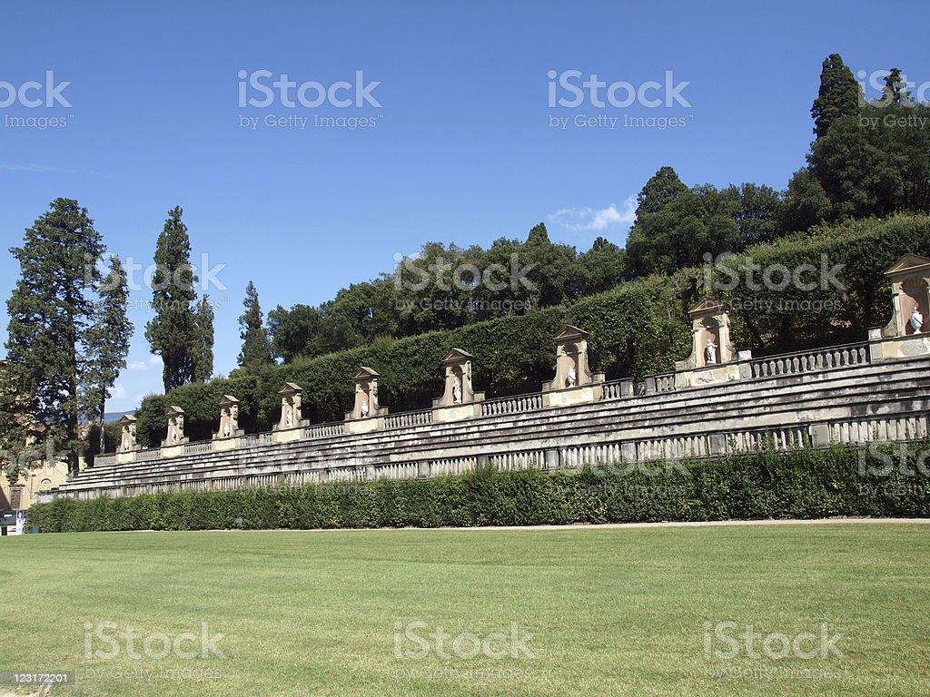 Boboli Gardens Amphitheatre - Florence stock photo
