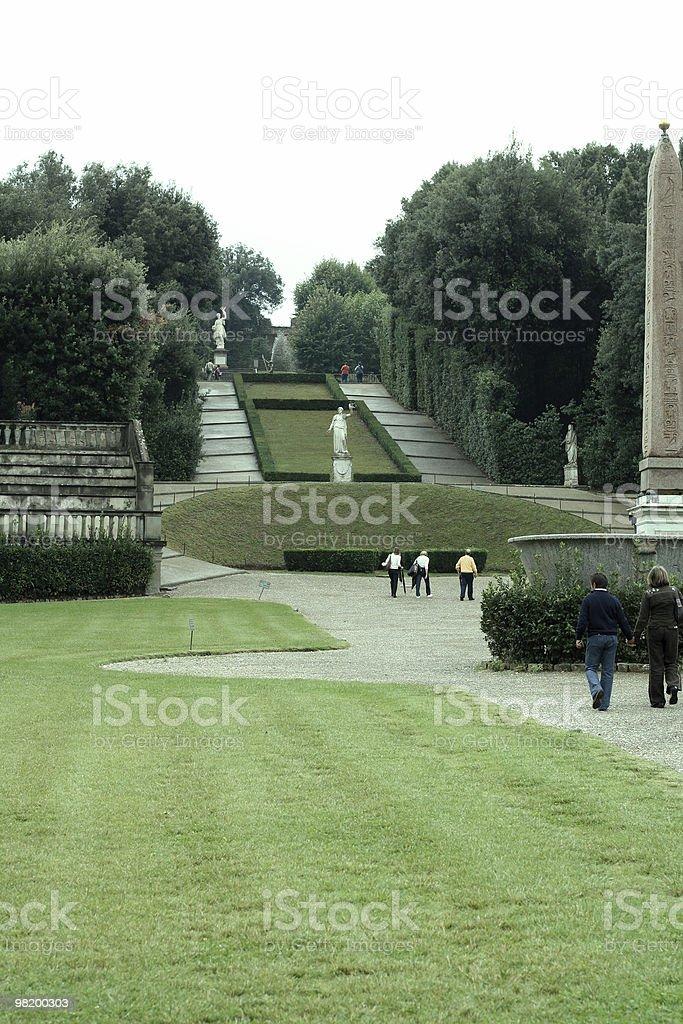 Boboli gardens stock photo