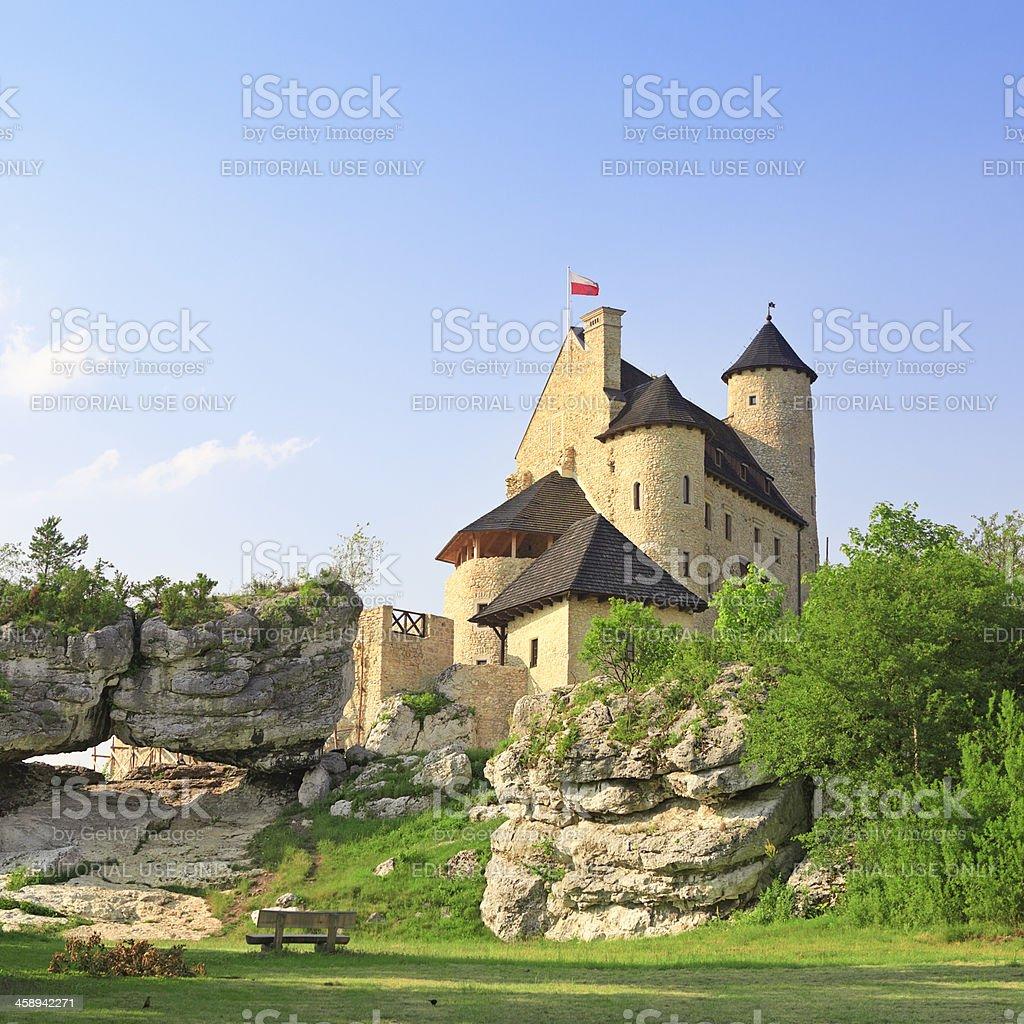 Bobolice Castle, Poland stock photo