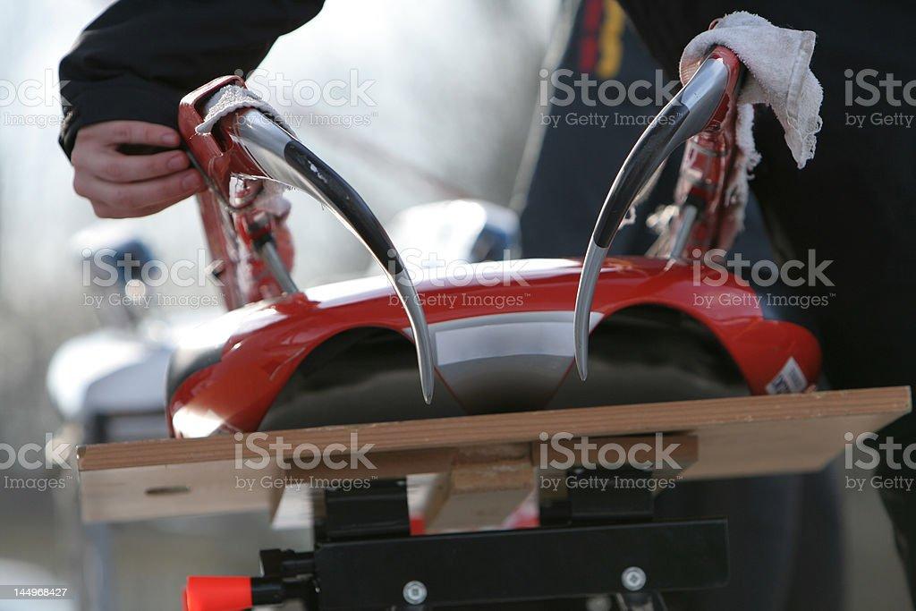 Bobsleigh stock photo