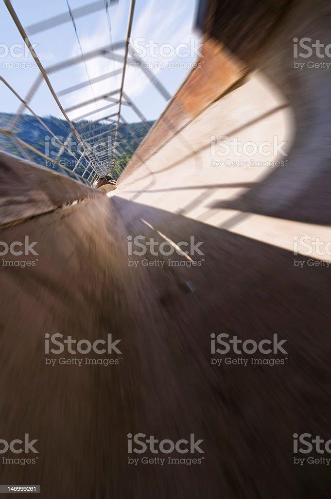 bobsleigh run blur stock photo