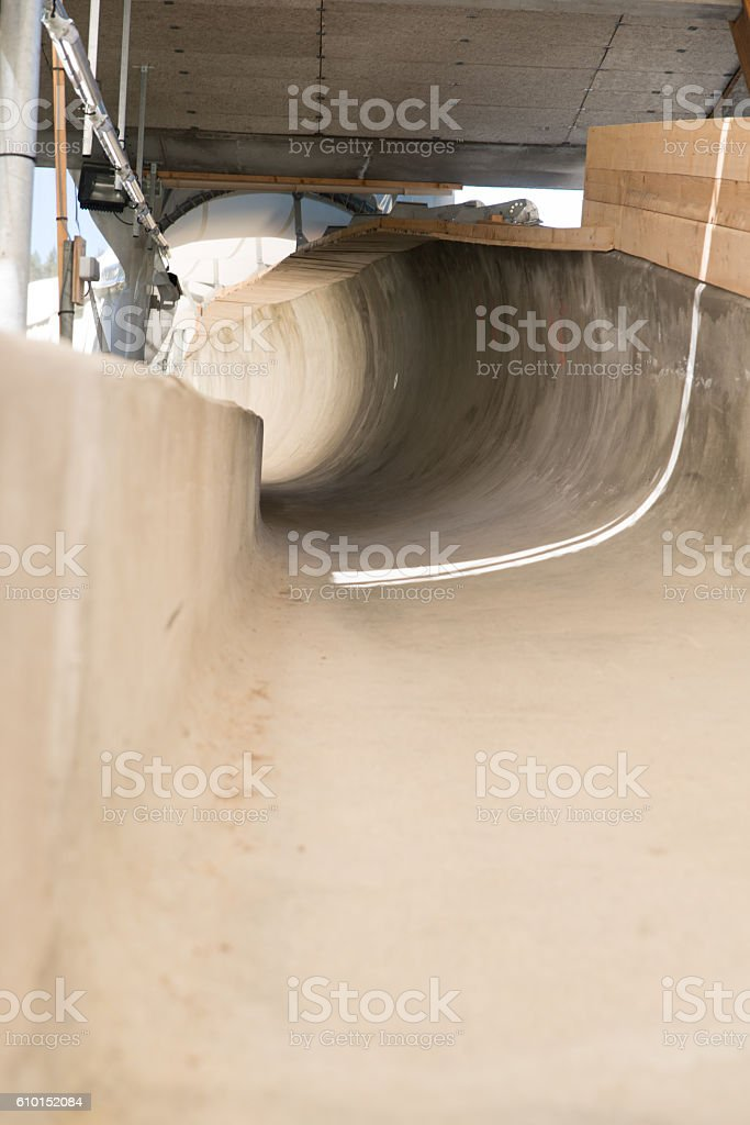 Bobsleigh track stock photo