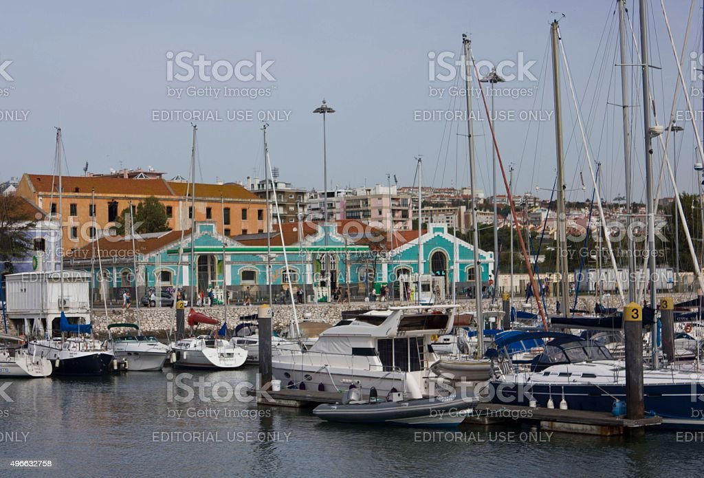 Boca do Bom Sucesso port in Belem stock photo