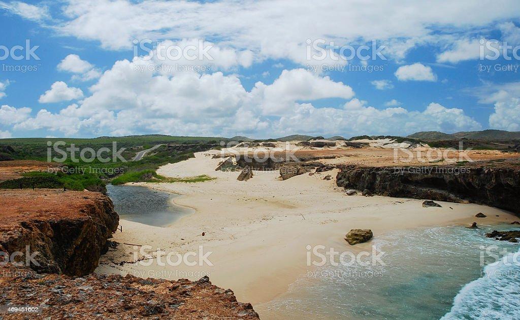 Boca Prins @ Arikok National Park stock photo