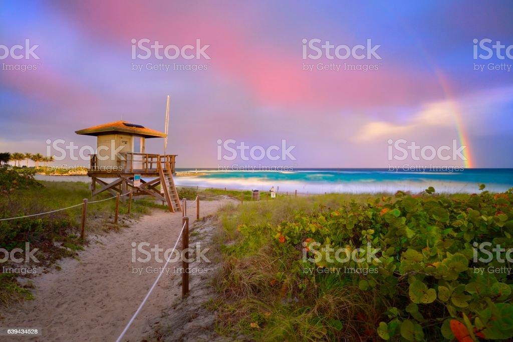 Boca Raton Beach Florida stock photo