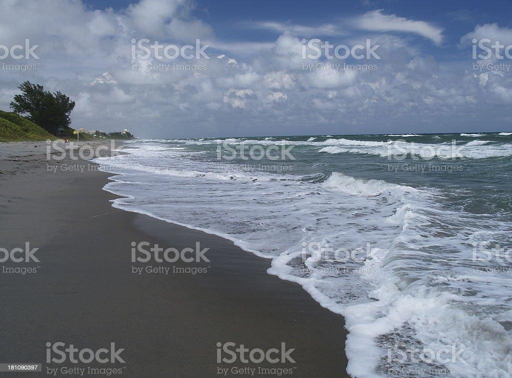 Boca Raton surf stock photo