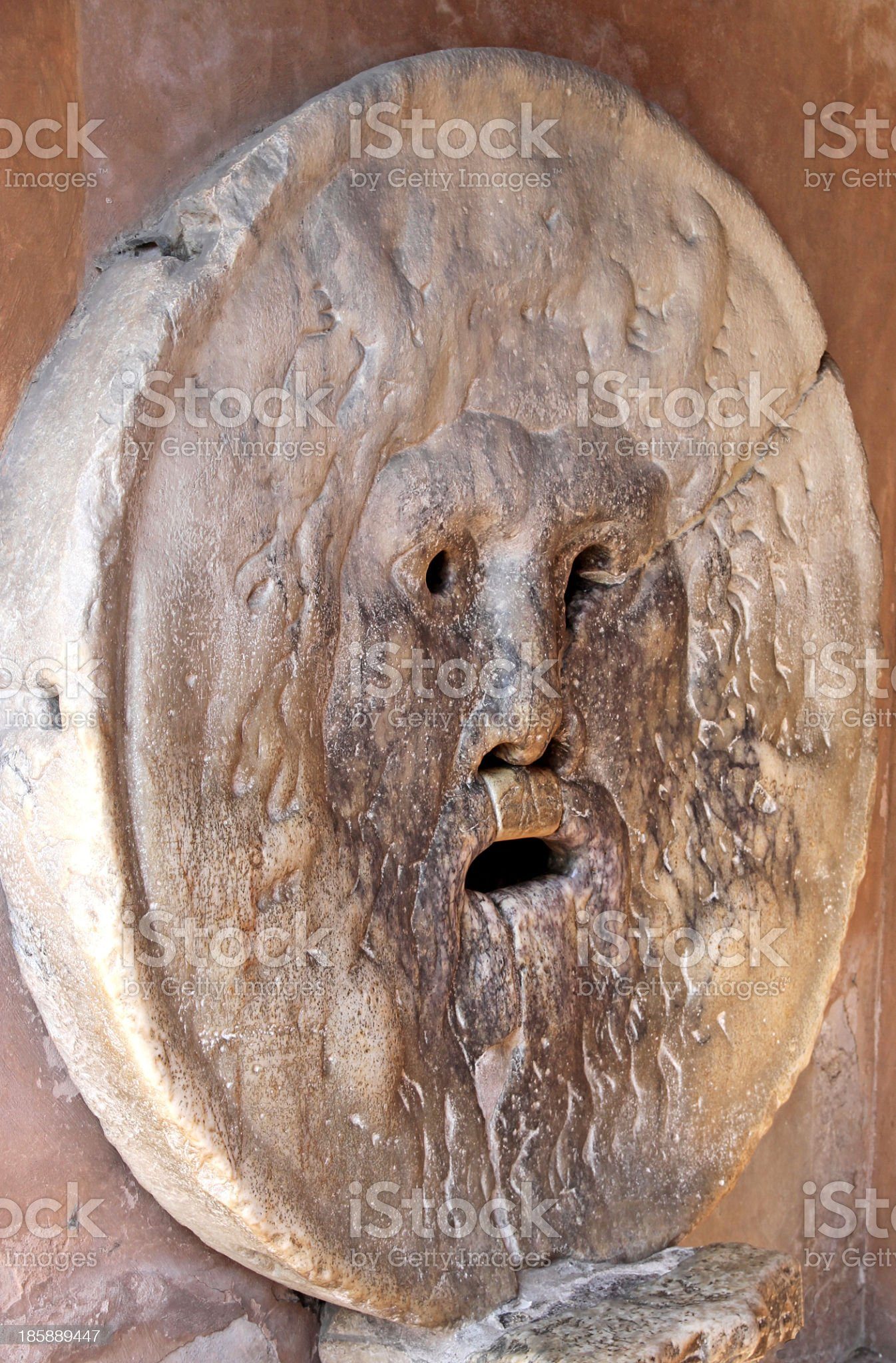 Bocca della Verit? photographed from oblique in Rome italy royalty-free stock photo