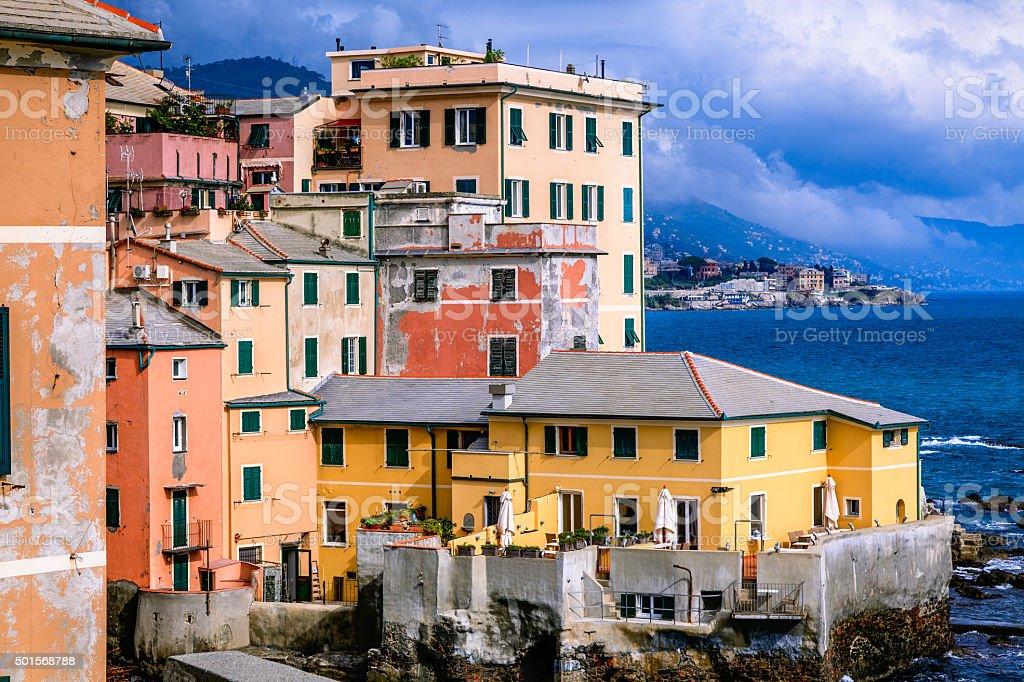 Boccadasse, Genoa, Italy stock photo