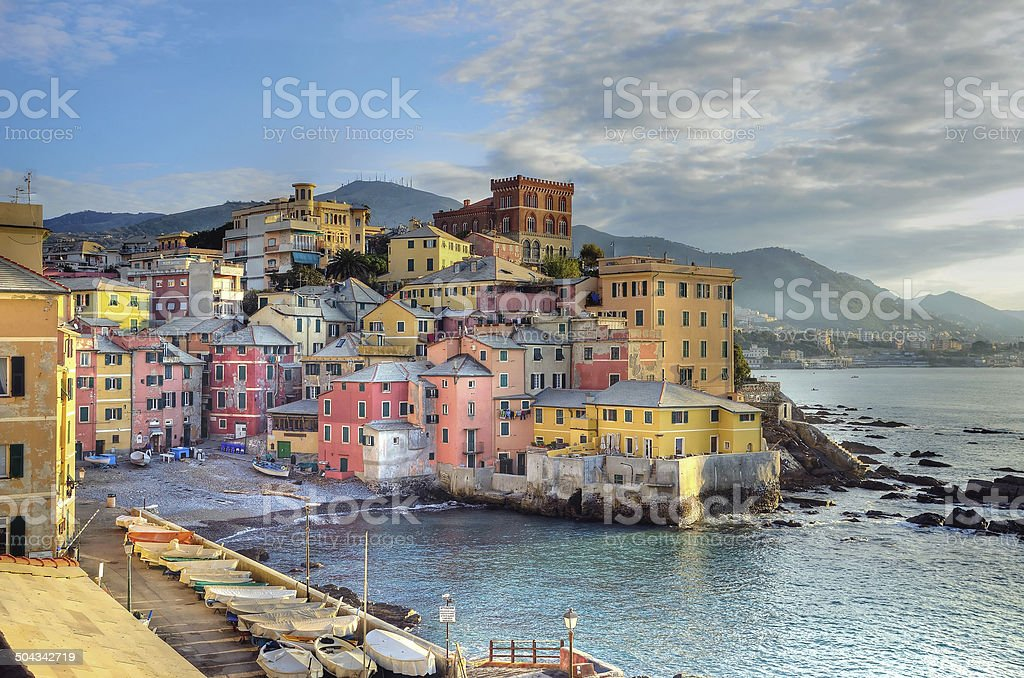 Boccadasse, Genoa stock photo