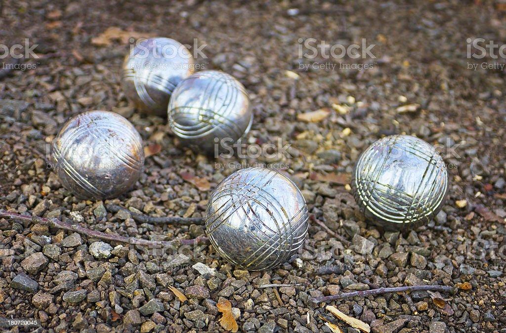 Bocce ball game stock photo