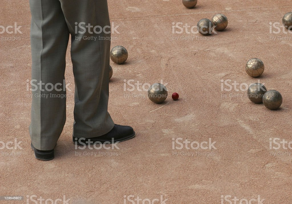 Bocce Bowling royalty-free stock photo