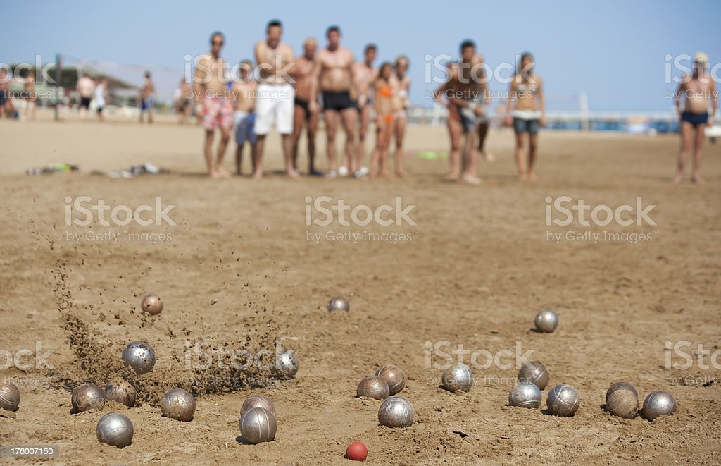 Boccia stock photo