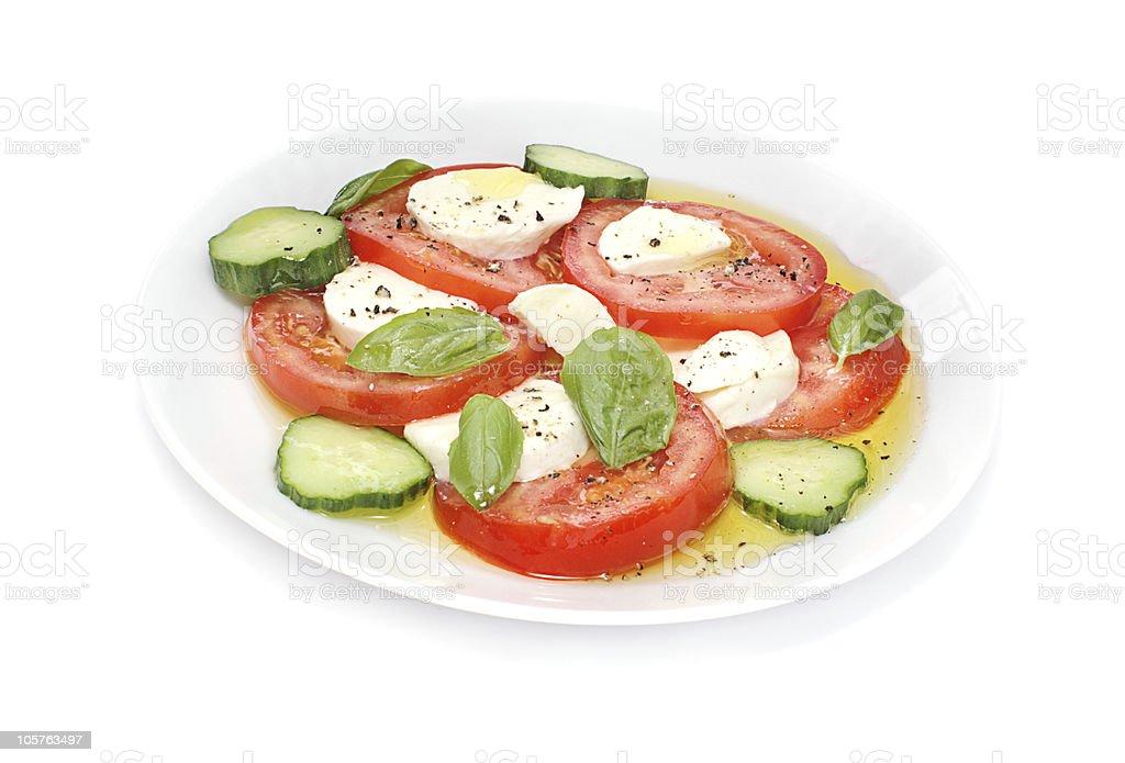Bocconcini and tomato salad royalty-free stock photo