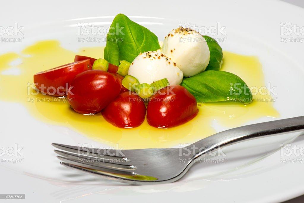 Bocconcini and Tomato Salad stock photo