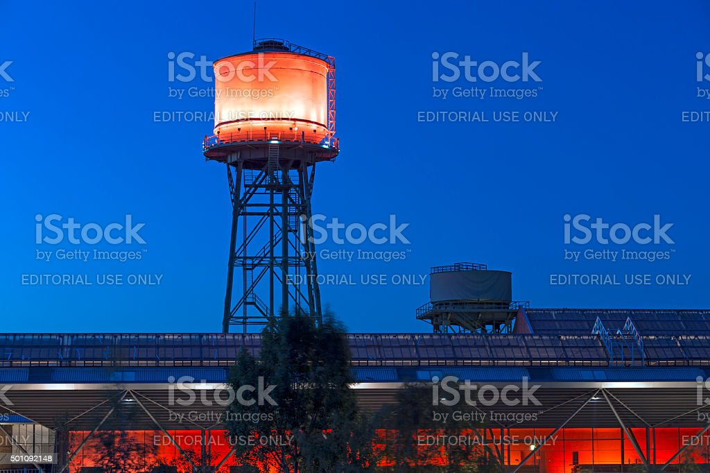 Bochum Red Tower stock photo