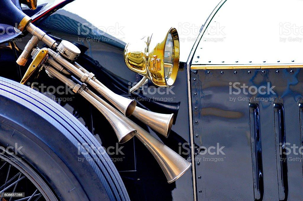 bocina de coche antigua royalty-free stock photo
