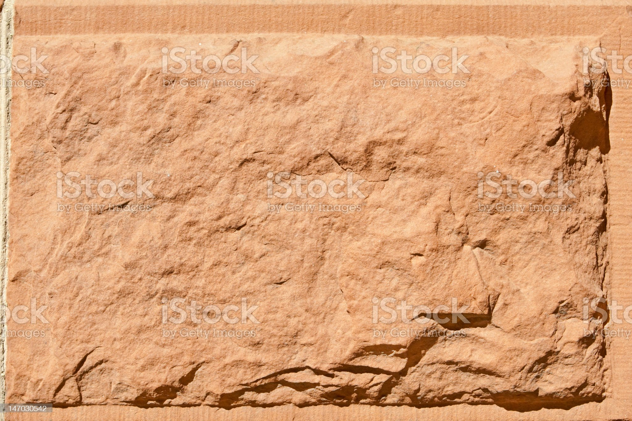Bock of Rustic Rough Cut Red Sandstone Stone royalty-free stock photo