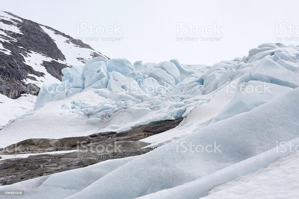 Bodalsbreen glacier (Jostedalsbreen national park, Norway) royalty-free stock photo