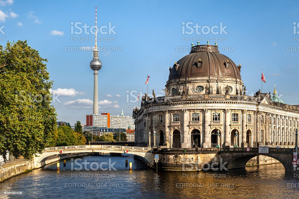 Bode museum on Museumsinsel, Berlin, Germany stock photo