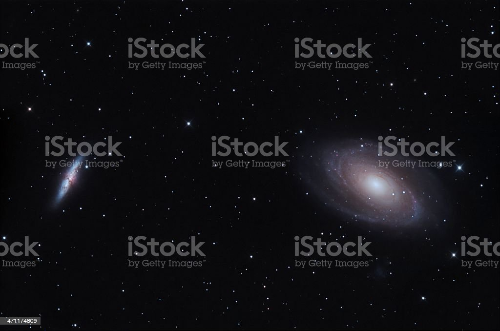 Bodes galaxy group royalty-free stock photo