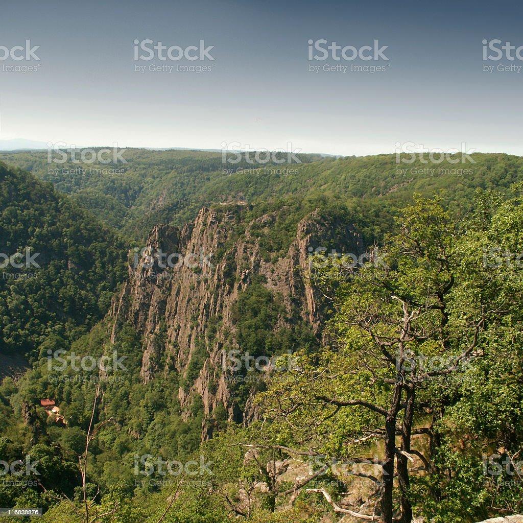 Bodeschlucht und Rosstrappe im Harz royalty-free stock photo