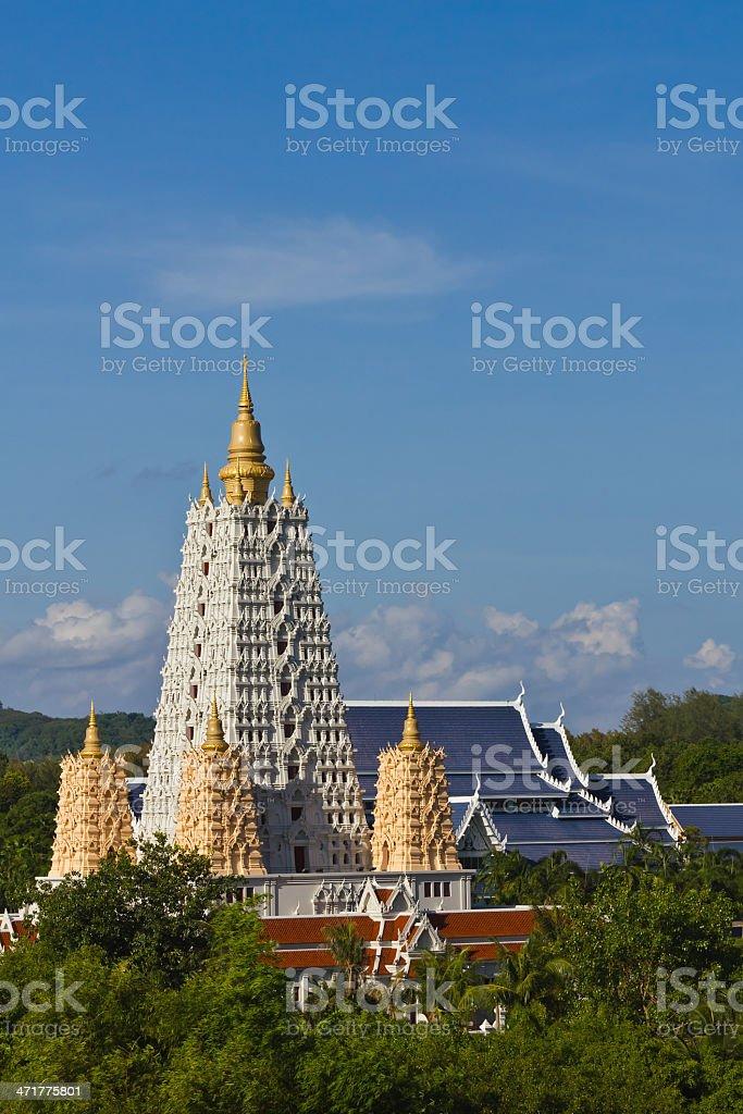 Bodh Gaya pagoda in Chonburi royalty-free stock photo