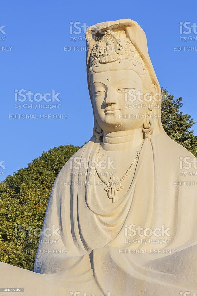 Bodhisattva Avalokitesvara (Kannon) at Ryozen Kannon in Kyoto stock photo