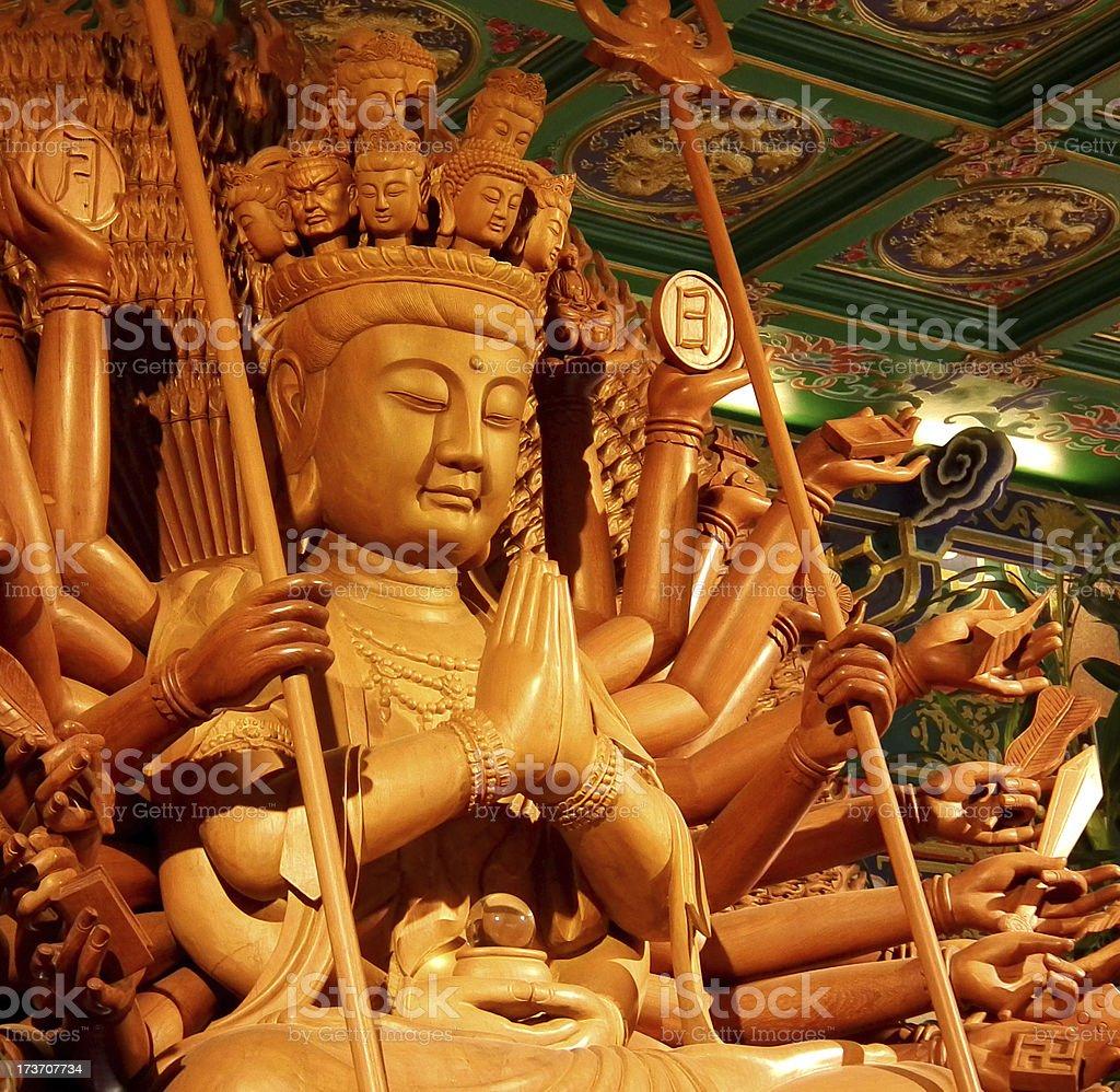 bodhisattva image of buddha chinese ancient art royalty-free stock photo