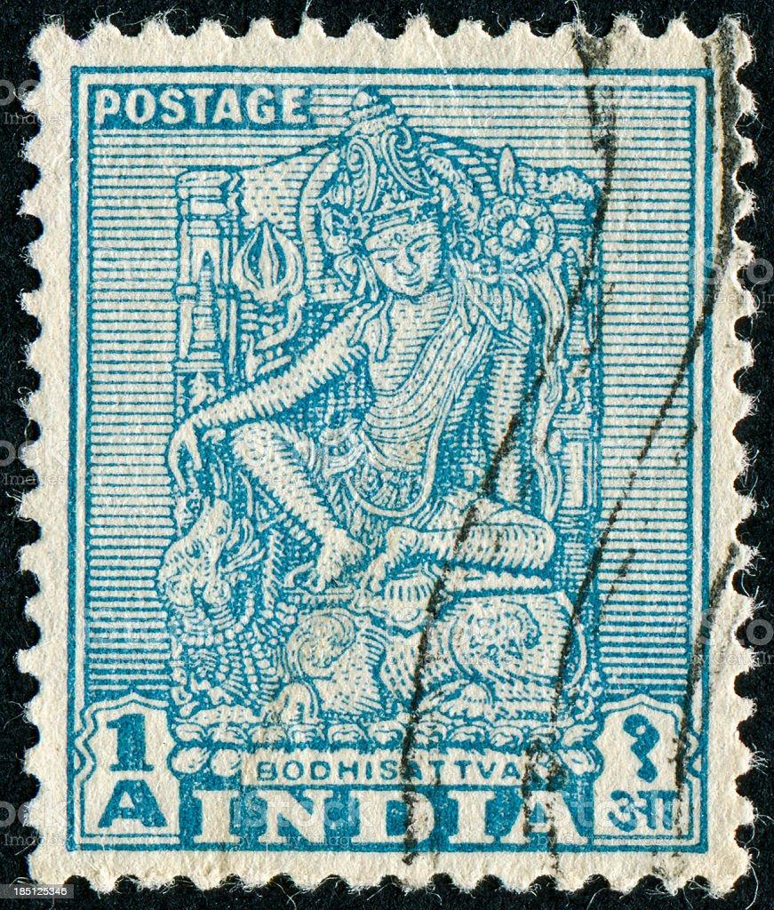 Bodhisattva Stamp stock photo