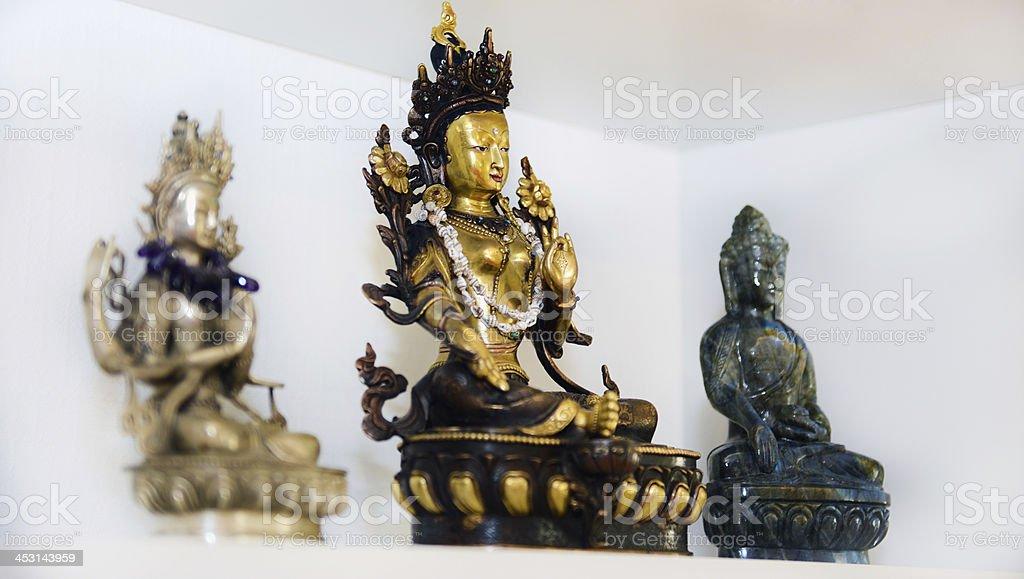 Bodhisattvas Statues stock photo