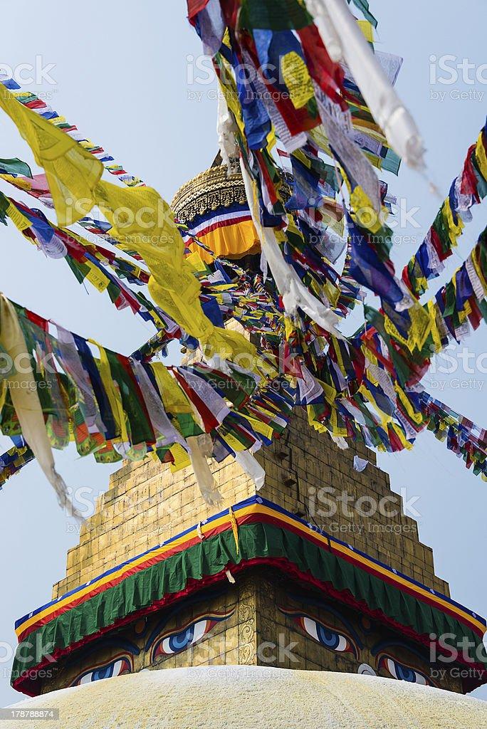 Bodhnath stupa in Kathmandu, Nepal royalty-free stock photo