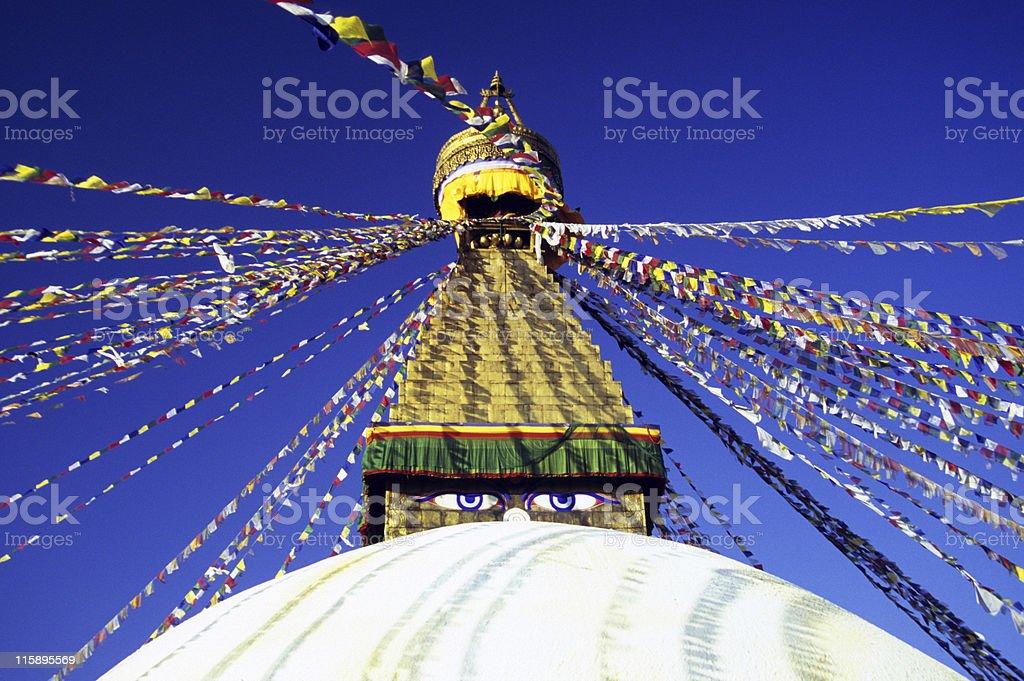 Bodhnath Stupa, Nepal royalty-free stock photo