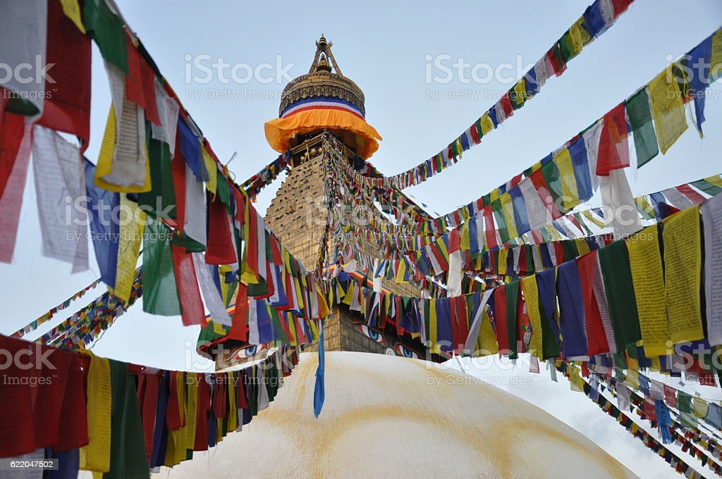Bodhnath Stupa, Nepal stock photo