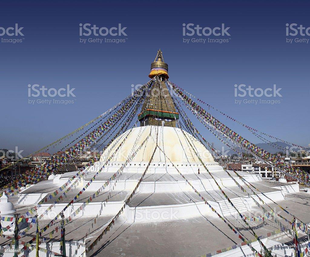 Bodhnath Stupa - Nepal royalty-free stock photo