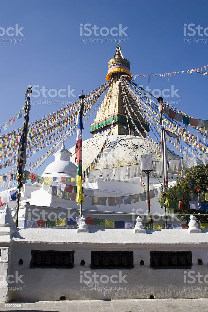 Bodhnath Stupa - Nepal royalty-free stock photo