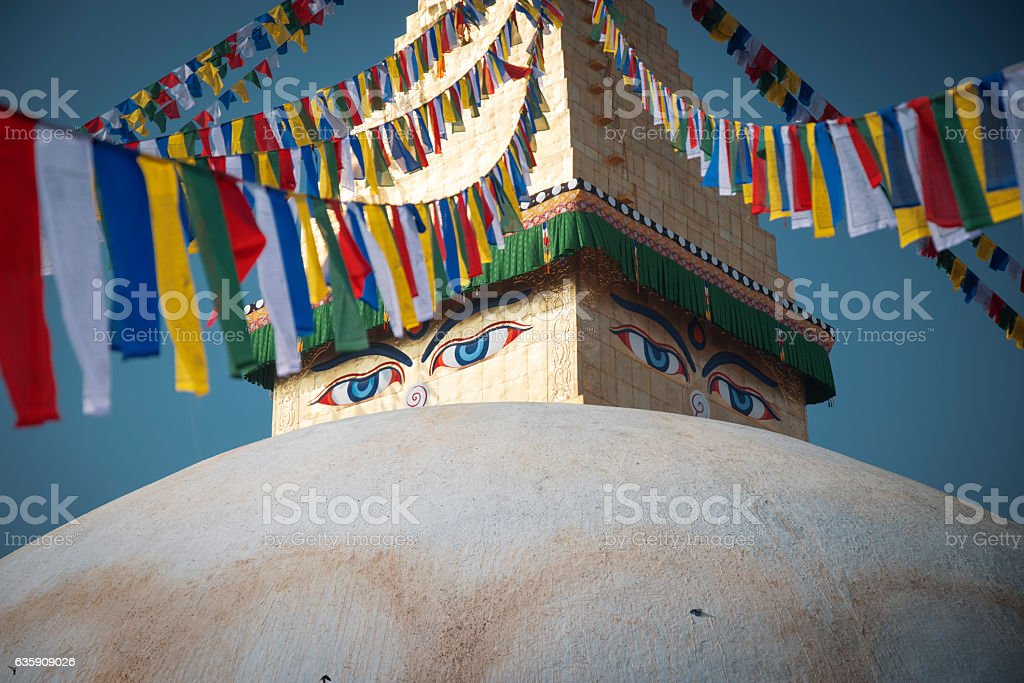 Bodhnath stupa stock photo