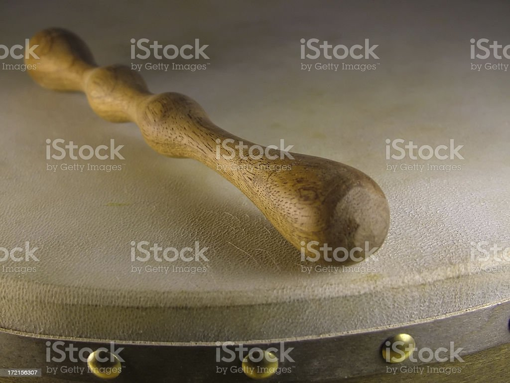 Bodhran and Beater stock photo