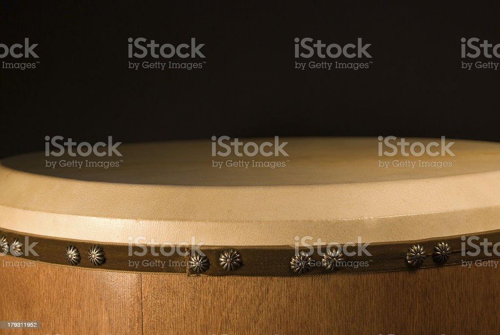 Bodhran Irish Drum skin view stock photo