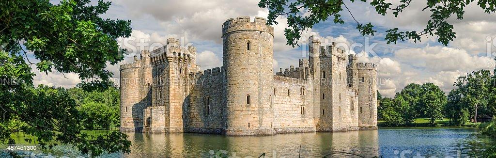 Bodiam Castle in England stock photo
