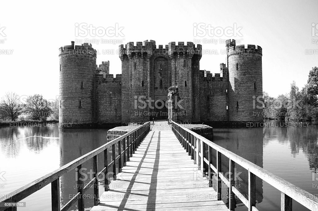 Bodiam Castle stock photo