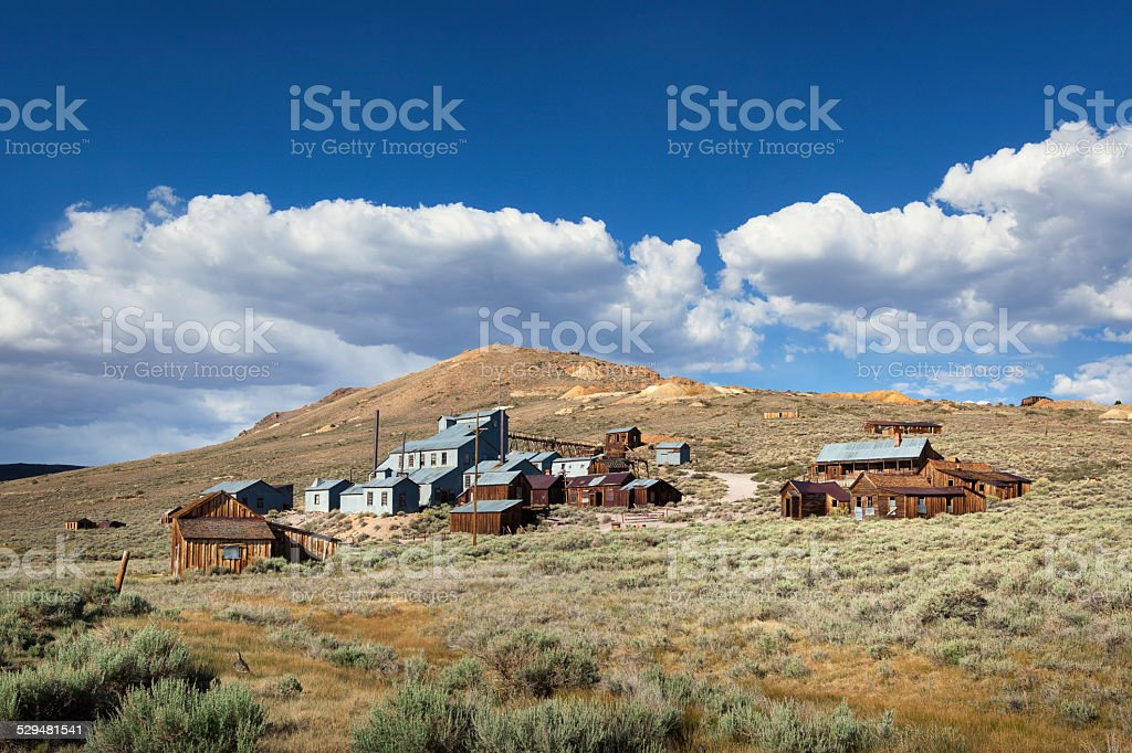 Bodie ghost town in California stock photo