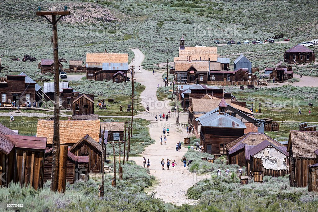 Bodie Ghost Town Tourists stock photo
