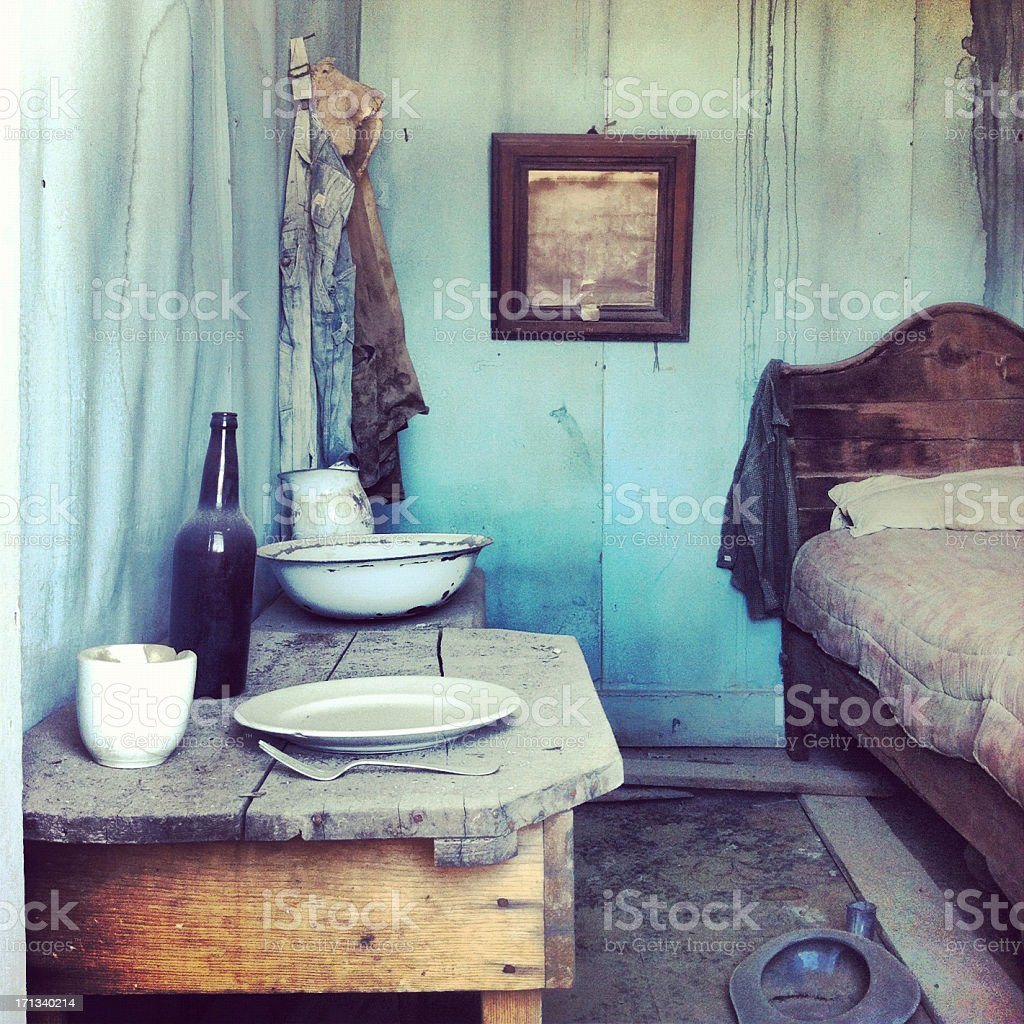 Bodie house interior stock photo